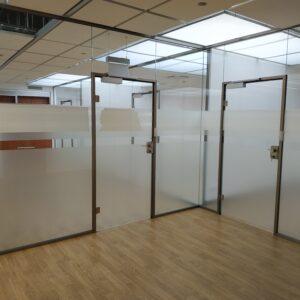 Ścianki szklane do biura