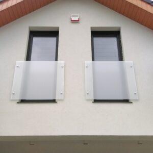 balustrada szklana balkony francuskie