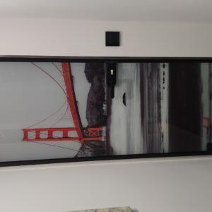 Szklane drzwi z grafiką